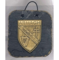 Armagh County Crest Irish slate plaque.