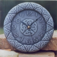 Killyliss Pewter Celtic Wall Clock, Irish Gifts