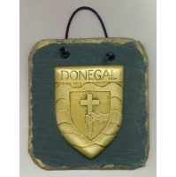 Donegal County crest Irish slate plaque