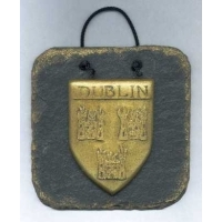 Dublin County Crest Slate wall plaque